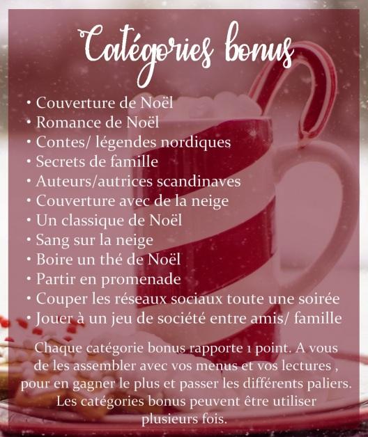 Catégories bonus