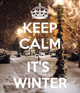 Keep Calm It's Winter